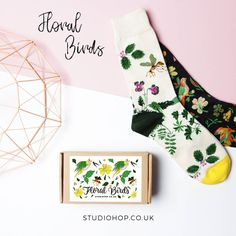 Are you a nature lover or know someone who is? You may be interested in our new really sweet floral birds design. They're part of our classic socks in a box range.   Head to our online shop to get a box now, just follow the link in the bio!  #patternobsession #designinspiration #birdprint #floralprint #flowersandbirds#natureandfashion #welovepatterns #patternobserver #patterngeek #nature #natureinspired #londonfashion #londonindy #snazzysocks #fashionsocks