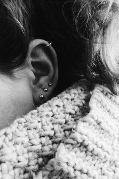 Hottest Photographs Cartilage Piercings three Popular If a regular striking ser. - Hottest Photographs Cartilage Piercings three Popular If a regular striking seriously isn't adeq - Helix Piercings, Piercing Oreille Cartilage, Guys Ear Piercings, Piercing Cartilage, Body Piercings, Peircings, Cartilage Earrings, Piercing Tattoo, Women's Earrings