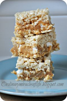 Caramel Rice Krispy Treats -- Delightful!! Following the recipe they turned into gooey bars, still delightful though!! Next time I will make more rise crispy mixture for a more solid base and wait for each layer to settle for a bit to avoid caramel gooey bars, lol!