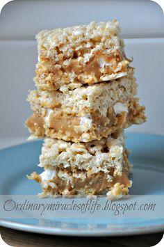 Caramel Rice Krispy Treats = Heaven!