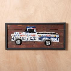 LICENSE PLATE TRUCK -- Modern folk art for all 50 states. A fitting…