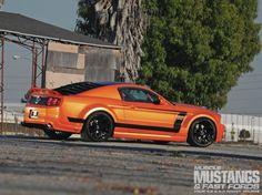 Boss 302-X - ford, mustang, orange, black wheels