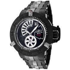 Invicta Men's 0807 Subaqua Noma III Black Ion-Plated Stainless Steel Grey Titanium Watch