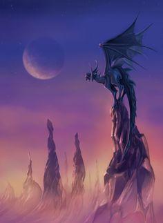 'Doomsday Dragon': Inspired on the End of the Dragon World. Created with Krita. Art Portfolio, Digital Art, World, Creative, Illustration, Artwork, Anime, Dragons, Monsters