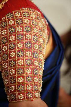 Wedding Saree Blouse Designs, Pattu Saree Blouse Designs, Choli Designs, Designer Blouse Patterns, Fancy Blouse Designs, Maggam Work Designs, Hand Work Blouse Design, Chennai, Sumo