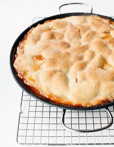 Peach pie - kruchy placek z brzoskwiniami