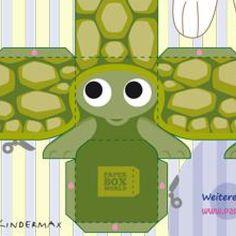 Bastelboge Schildkröte http://paperboxworld.weebly.com/