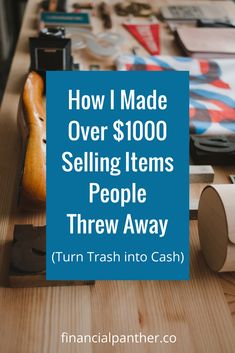 I have a couple of things that I learned since I've started selling our trash finds.  First, there are more ways to make extra money out there than you think.  You just have to think outside the box.  I literally made over $1,300 from things I found in ONE dumpster.  If I told you that there was $1,000 in a dumpster, do you think you would go and take a peek in it?  Take a chance.