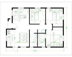House Design with 3 Bedrooms Terrace Roof - House Plans Small House Floor Plans, Best House Plans, Modern House Plans, 30x40 House Plans, Three Bedroom House Plan, House Roof Design, Small House Design, House Layout Plans, House Layouts