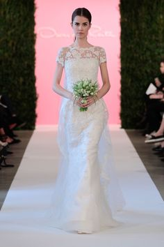 Oscar de la Renta Spring 2015. See all of the best looks from Bridal Week here.