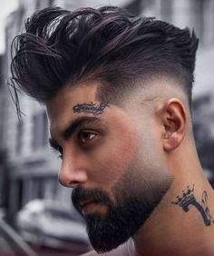 Young Mens Hairstyles, Young Men Haircuts, Cool Haircuts, Up Hairstyles, Men's Haircuts, Fashion Hairstyles, Hairstyle Men, Beard Styles For Men, Hair And Beard Styles
