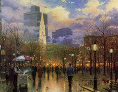 Thomas Kinkade Boston Painting