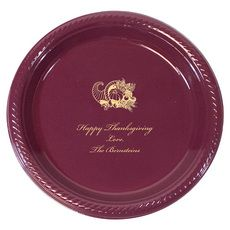 Personalized Thanksgiving Plastic Plates