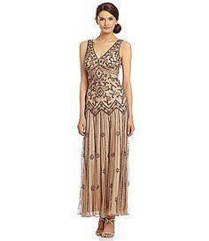 Pisarro Nights Beaded DropWaist Gown #Dillards