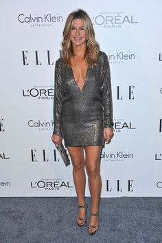Jennifer Aniston shows off her cleavage at Elles Women in Hollywood Tribute