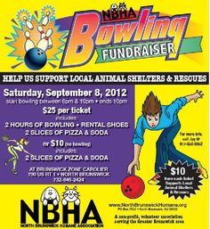 The North Brunswick Humane Association's Bowling Fundraiser supports local animal shelters and rescues.