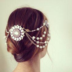 A delicate hair piece. #etsy #weddings