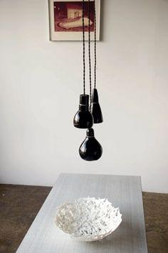 black pendant lights from www.bodieandfou.com