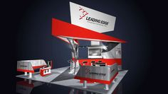 Leading Edge booth, designed for technology, trade show booth, expo booth