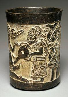 Late Classic, Maya  Enema beaker, A.D. 600–900 , Place made: Maya area, Mexico