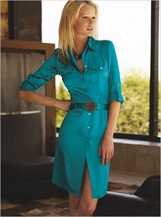 shirt dress - nice shape