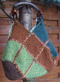 crochet bag (22 squares bag)