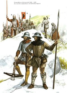 The Swiss at War 1300–1500 - Footsoldiers of the Period 1300-1400 Osprey Publishing