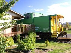 Train car turned into a home.