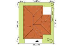 Biuro projektowe Bydgoszcz, tanie, gotowe projekty domów nowoczesnych, małych, jednorodzinnych, drewnianych, energooszczędnych, parterowych, podpiwniczonych, szkieletowych, z poddaszem i piwnicą - biuroprojektow.pl My House Plans, Design Case, New Homes, Patio, How To Plan, Home Decor, Bedrooms, Cottage, Architectural Sketches