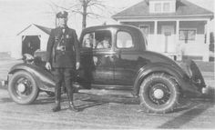 1933 Chevrolet Coupe with Officer Ronald Ochs