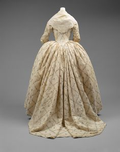 Robe à lAnglaise, 1784-87, French, cotton, metal, silk   The Met