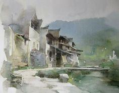 Liu Yi #watercolor jd