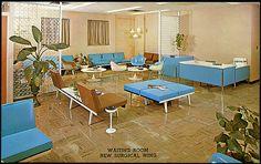 hospital waiting room... with ashtrays!