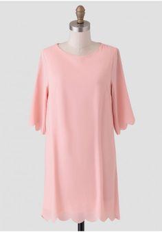 City Socialite Scalloped Shift Dress | Modern Vintage Dresses | Modern Vintage Clothing | Ruche