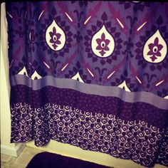 New shower curtain & rug! Keeping up with my purple tradition. ;)