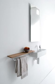 The smaller the space, the more intelligent the design solution required, not least when it comes to bathrooms, which need to be supremely functional as well as beautiful. Cloakroom Toilet Downstairs Loo, Wc Bathroom, Tiny Bathrooms, Bathroom Interior, Small Bathroom, Bathroom Storage, Lavabo Design, Wc Design, Guest Toilet