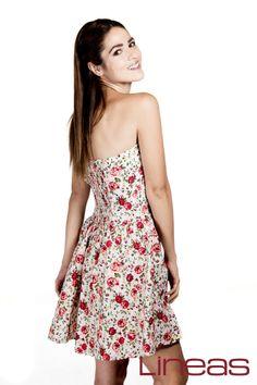 Vestido, Modelo 18782. Precio $310 MXN #Lineas #outfit #moda #tendencias #2014 #ropa #prendas #estilo #primavera #outfit #vestido