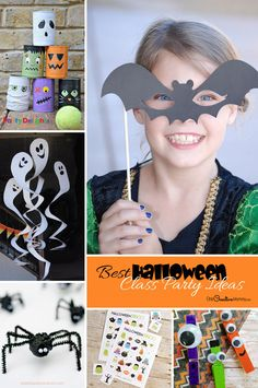 33 Awesome Halloween Class Party Ideas! Halloween crafts and games to wow the kids at your preschool and elementary class parties this year! Be the cool mom. {OneCreativeMommy.com}