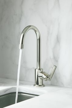 Vir Stil kitchen faucet by Laura Kirar for KALLISTA #kallista | KALLISTA.com