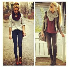 www.soshevo.com - We love this look! Perfect for the coming fall/winter! Soshevo approved! #winter #fashion #2013 #what #to #wear #style #cute #outfit #outfits #look #looks #style #chunky #knit #scarf