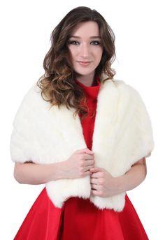 Eliza J EJ1M1102 Faux Fur Shawl