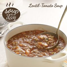 Lentil-Tomato Soup Recipe from Taste of Home -- shared by Michelle Curtis, Baker City, Oregon