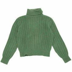 Pre-owned Yves Saint Laurent Cashmere Jumper Cashmere Turtleneck, Cashmere Sweaters, Estilo Hippie, Jumper Shirt, Crop Shirt, Moda Vintage, Vintage Hats, Vintage Sweaters, Green Sweater