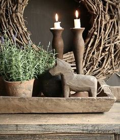 Nordic decor with wood home decor and plants Wabi Sabi, Rustic Design, Rustic Style, Country Decor, Rustic Decor, Natural Living, Industrial Style Kitchen, Wood Home Decor, Affordable Home Decor