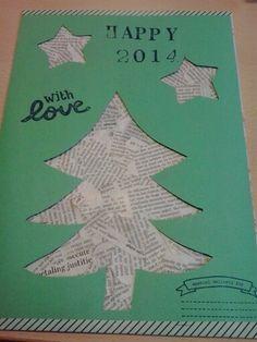 Nieuwjaarsbrief 2014 Merry Chistmas, Christmas And New Year, School, Happy, Holiday, Diy, Noel, Vacations, Bricolage