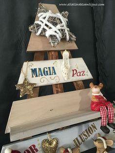 Árbol de Navidad de Madera, con mucha ilusión hemos construido nuestro árbol de magia, ilusión, regalos. Queréis saber como se hizo. Estáis invitados.