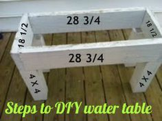 DIY water table or sand table - Your Modern Family Water Table Diy, Sand And Water Table, Water Tables, Sand Table, Diy Table, Outdoor Toys, Outdoor Fun, Outdoor Games, Kids Sand