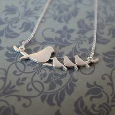 necklace bird family by janmary designs