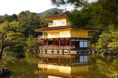 Kinkakuji Temple the Golden Pavilion in Kyoto Osaka, Temple Of The Golden Pavilion, Golden Temple, Japan Highlights, Japan Travel Guide, Asia Travel, Seven Wonders, Scenic Photography, Stunning Photography