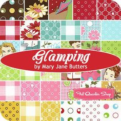 Glamping MINI Charm Pack Mary Jane Butters for Moda Fabrics